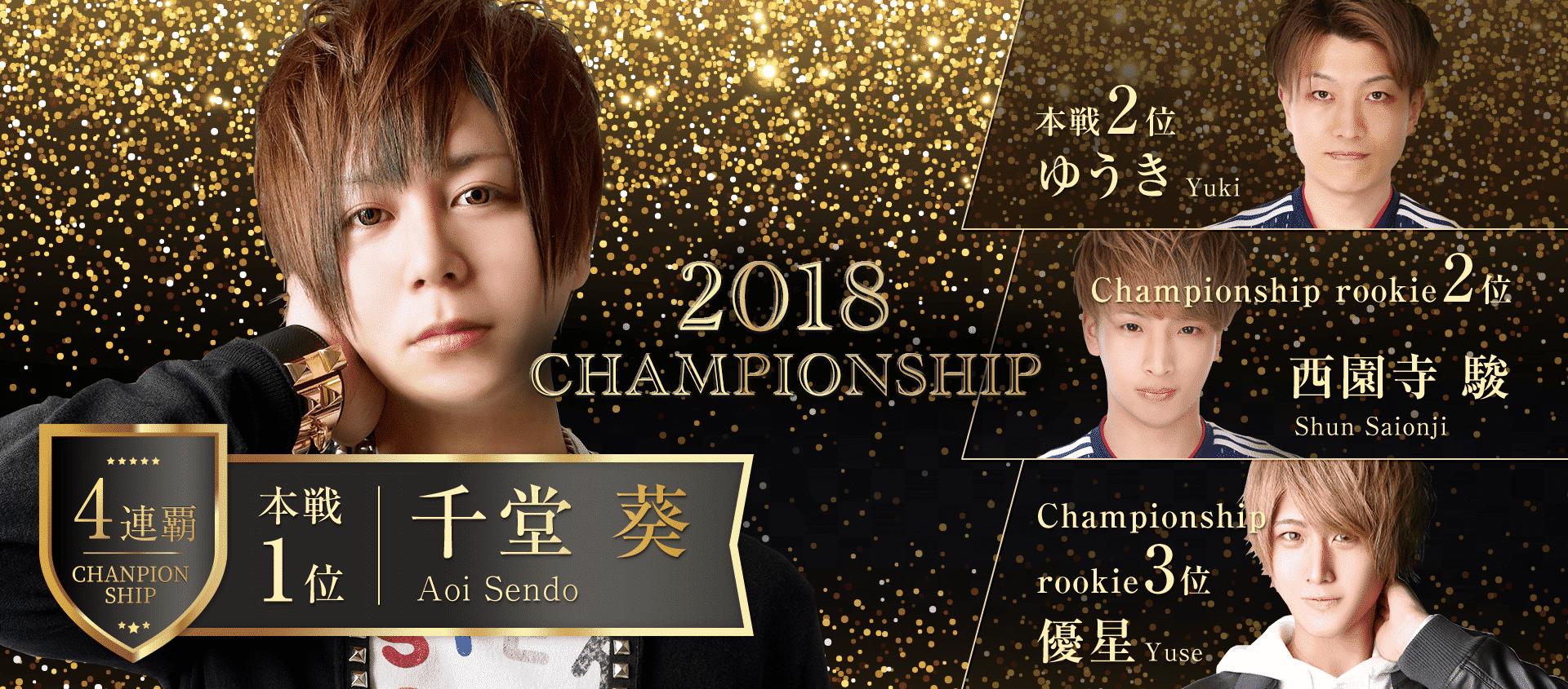 2018 チャンピオンシップ 本線・ルーキー結果