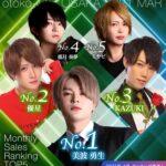 大阪ミナミのホストクラブ【大阪男塾】の2021年3月ランキングバナー(スマホ版)